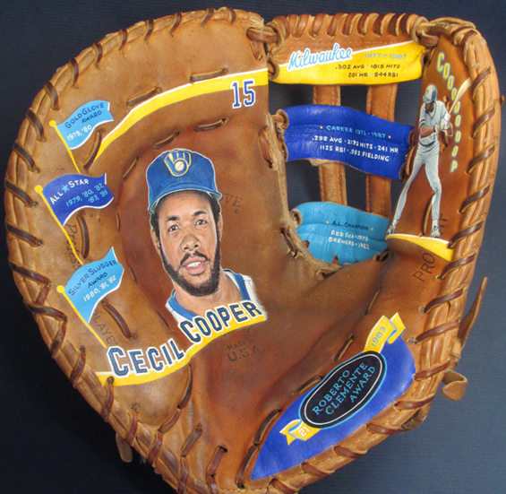 Cecil Cooper Glove Painting