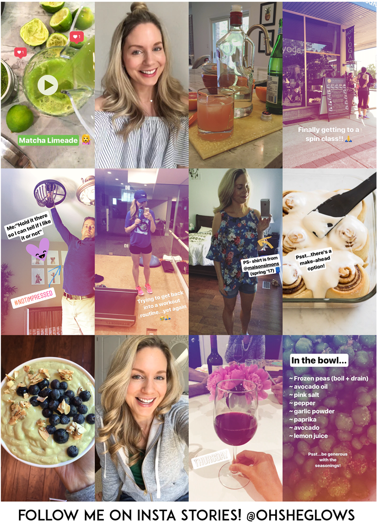 Insta Stories collage. Follow me @ohsheglows !