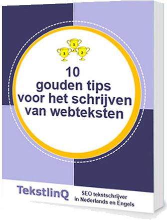 Cover book 10 gouden tips voor het schrijven van webteksten