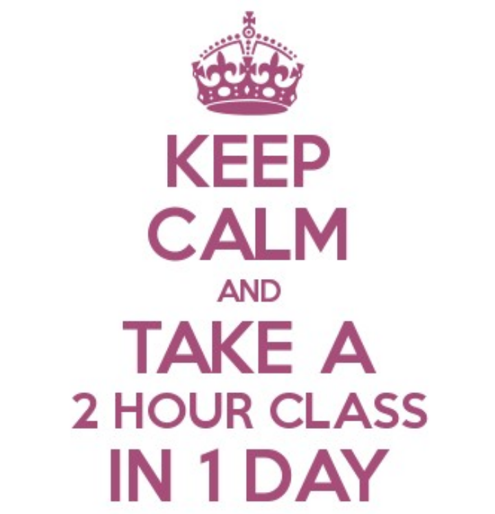 ACdL-Keep Calm and Take a 2 hour class in 1 day