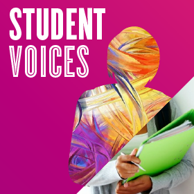Student Voices in the Blog Graphic