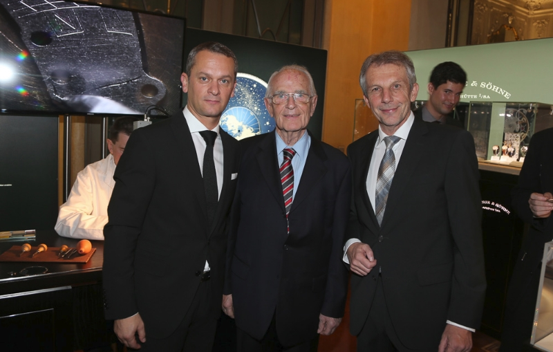 Foto: Andreas Haude (A. Lange & Söhne), Walter Lange, Rudolf Kreuzberger (Veranstalter)