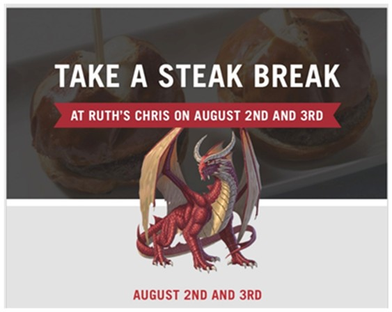 Ruth's Chris Steak Break