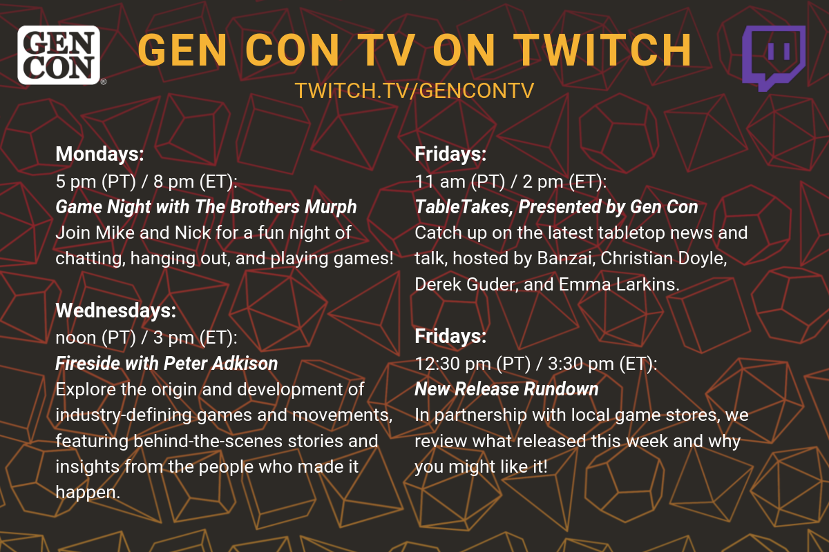 Gen Con TV on Twitch