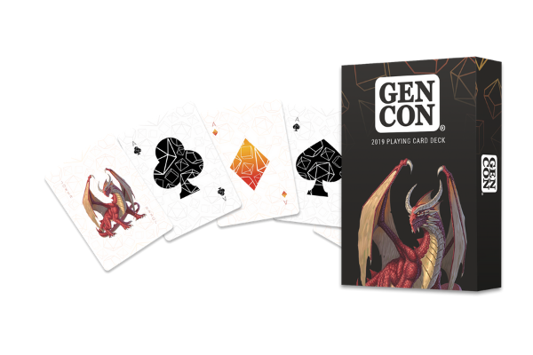 Albino Dragon Playing Cards
