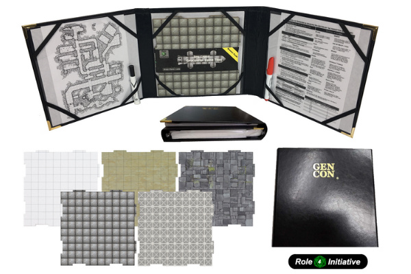 GM Screen With Dungeon Tiles