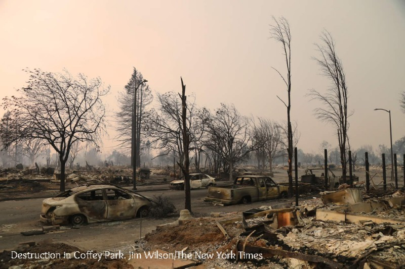 Destruction in Coffey Park. Jim Wilson/The New York Times