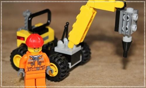 Lego man with crane