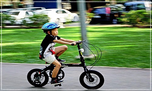 child cycling