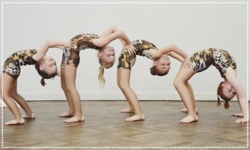 Four acrobatic girls
