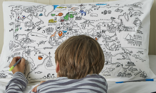 eatsleepdoodle competition win doodle gifts boy colouring in pillowcase