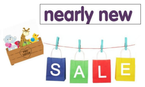 Nearly new sale logo