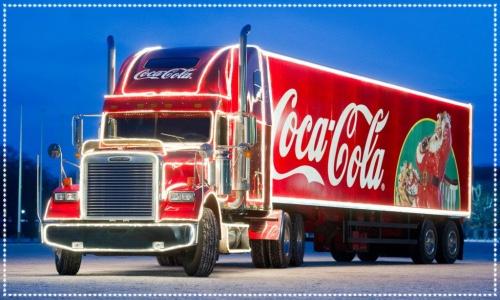 Coca cola truck in Cardiff
