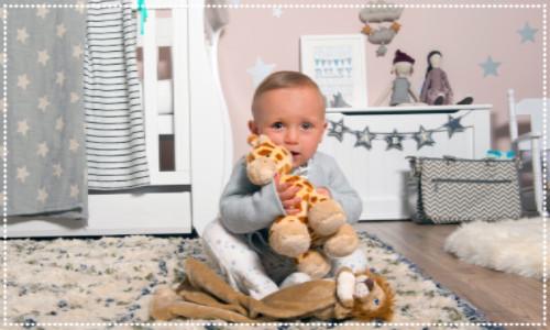 Baby in a Beautiful Nursery