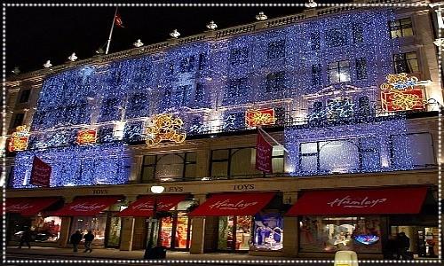 Hamleys store Christmas lights