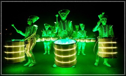 Illuminated Drummers