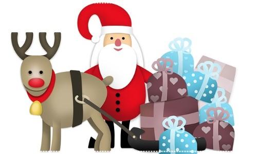 Santa and Rudolf