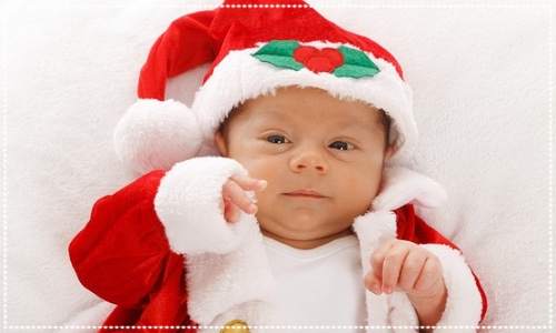 Baby in santa outfit