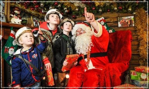 Santa in Grotto