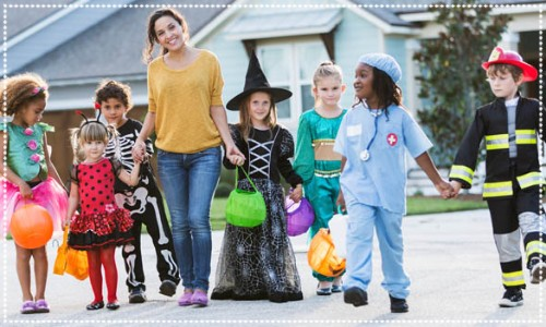 Little Children Trick-or-Treating