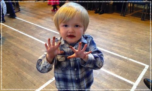 Little boy at Cramond Kirk Halls