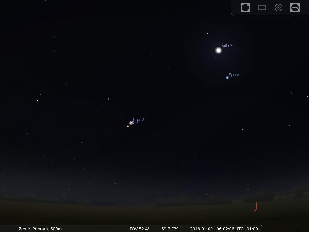 Mapa oblohy stelarium