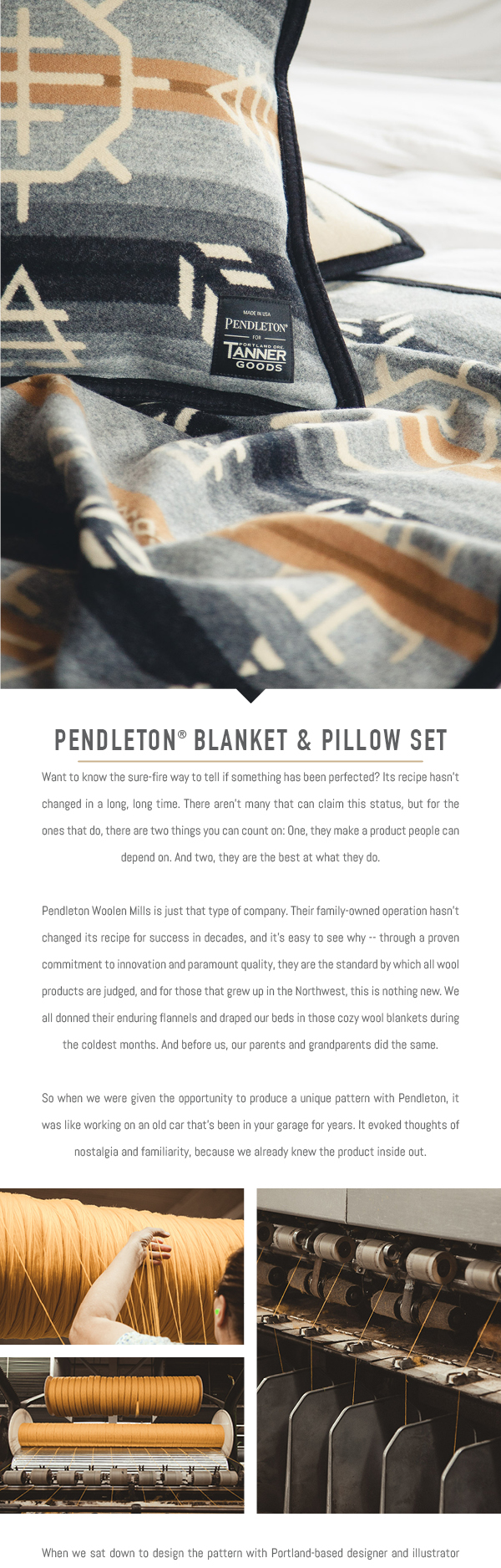 Pendleton for Tanner Goods