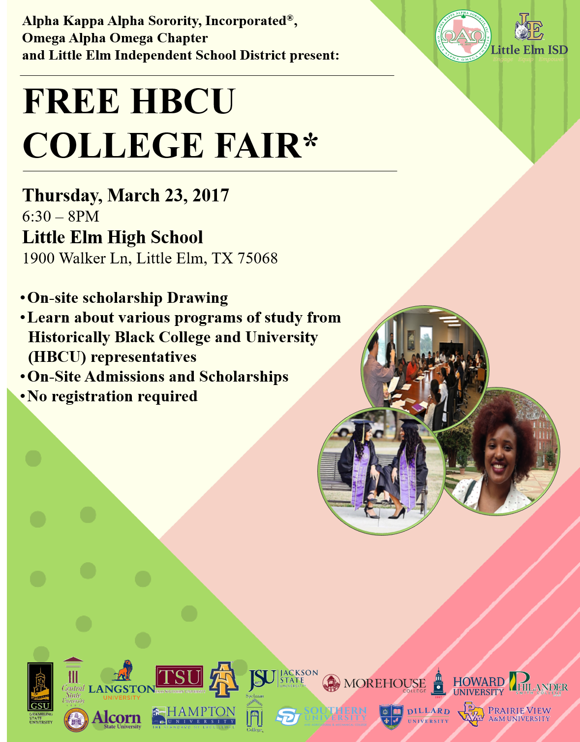 Free HBCU College Fair - click for information.
