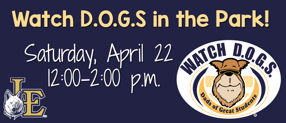 Watch D.O.G.S. in the Park! Saturday, April 22 from 12-2 p.m.
