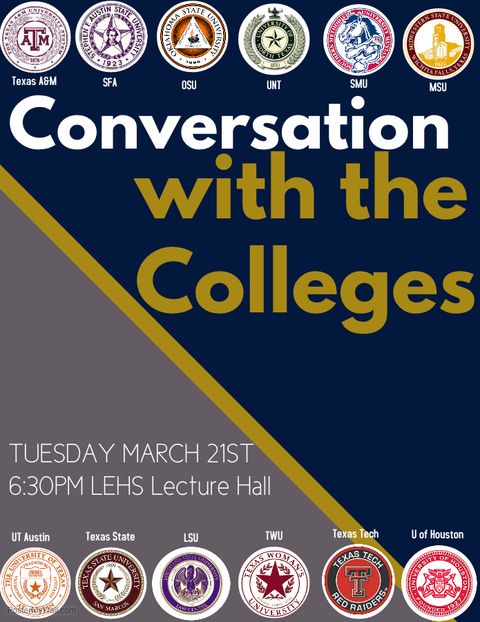 Conversation with Colleges - Click for information