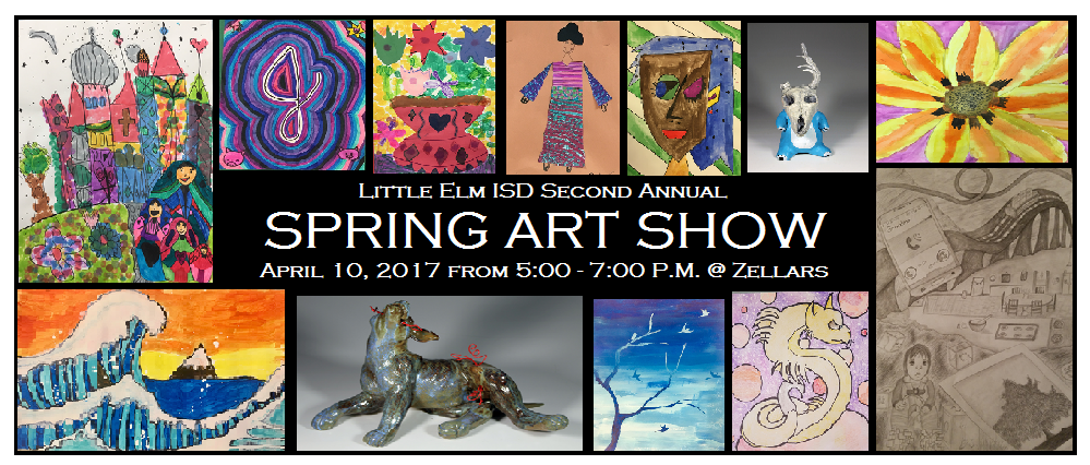 LEISD Spring Art Show. April 10 from 5-7 p.m. at Zellars