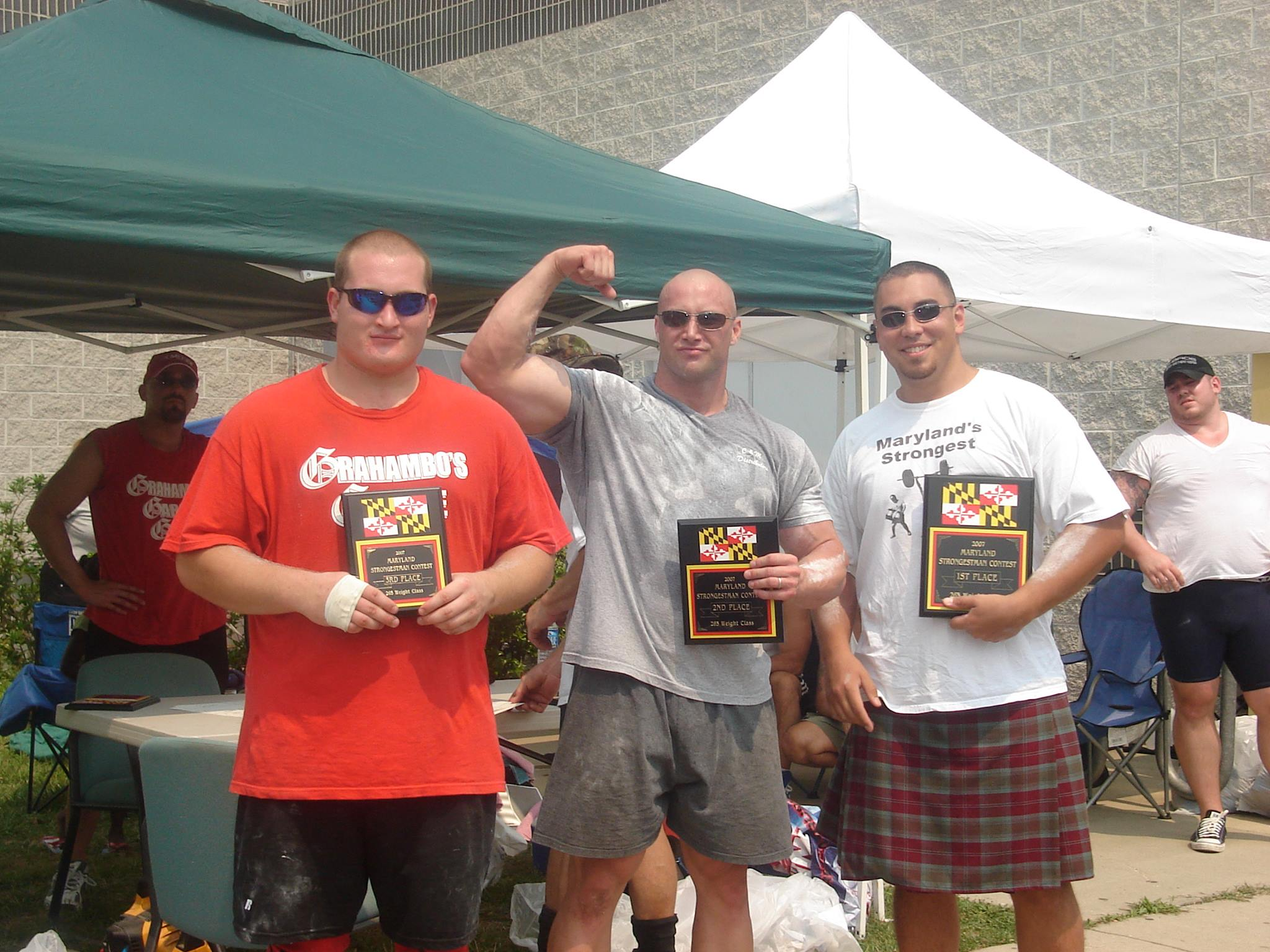 2007 Maryland Strongman winners