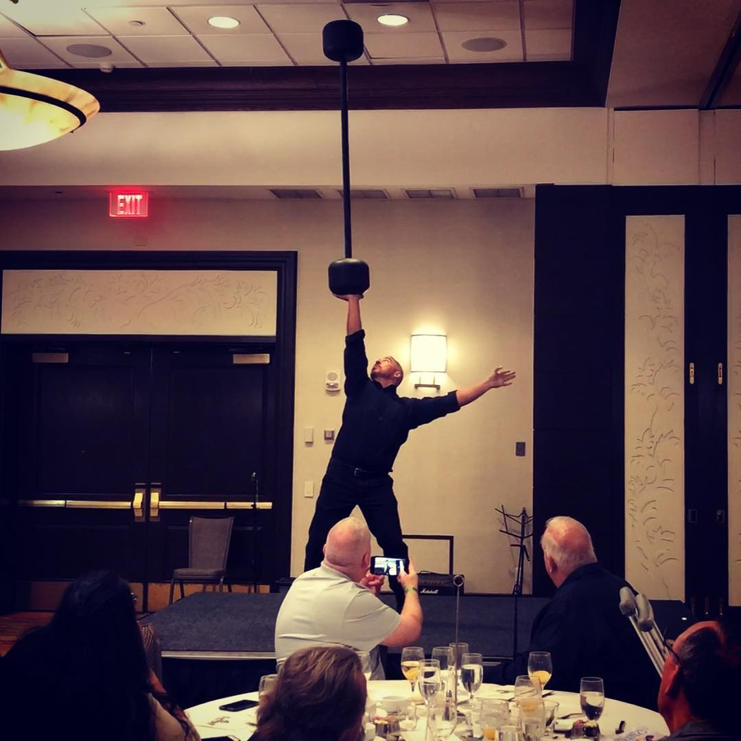 Strongman show at the AOBS Dinner