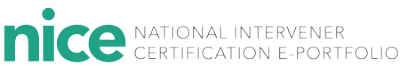 National Invervener Certification E-Portfolio Certification logo