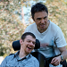 image of parent and child with wheelchair