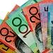 colourful australian money, 5, 10, 20, 50 and 100 dollar bills