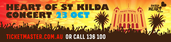 Heart of St Kilda promo banner on 23 Octo
