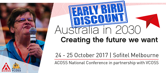 ACOSS VCOSS National conference early bird tickets now on sale - ending soon!