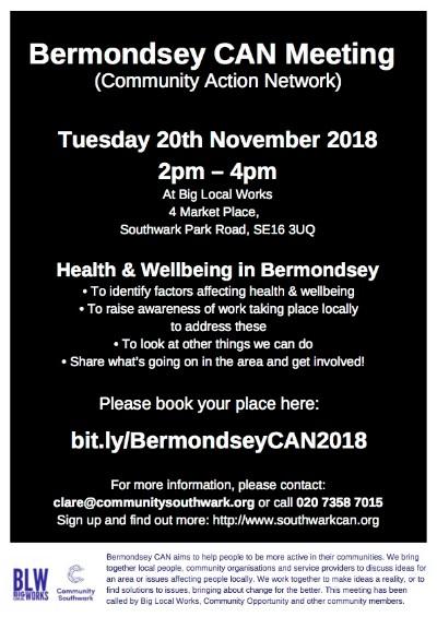 Bermondsey CAN Meeting 2018
