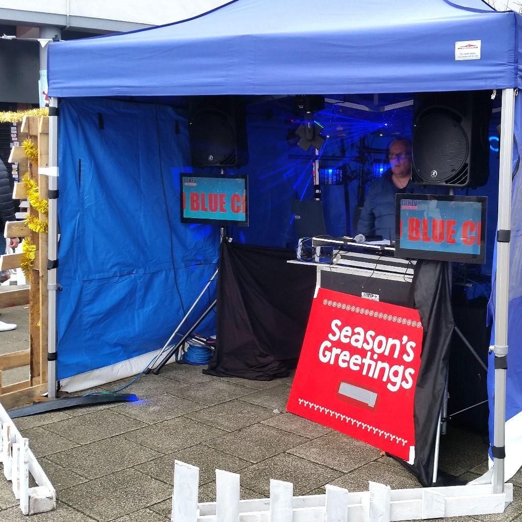 The Blue Christmas 2018 DJ booth