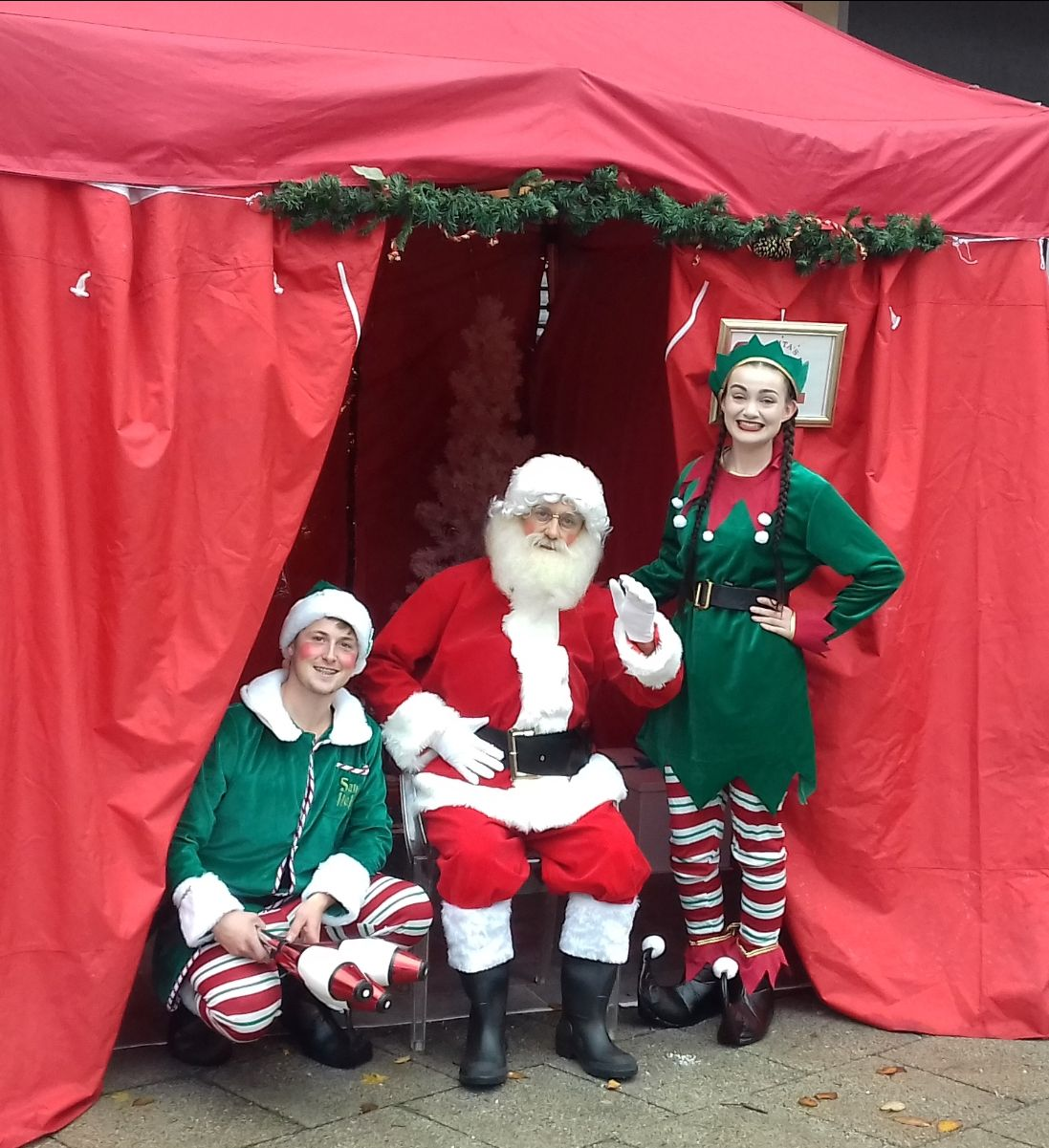 Santa and Elves at the Blue Christmas 2018