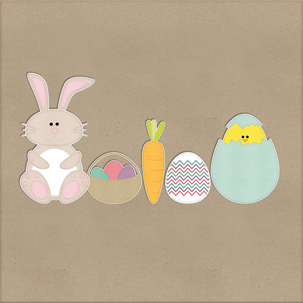 Easter stickers freebie from Harper Finch