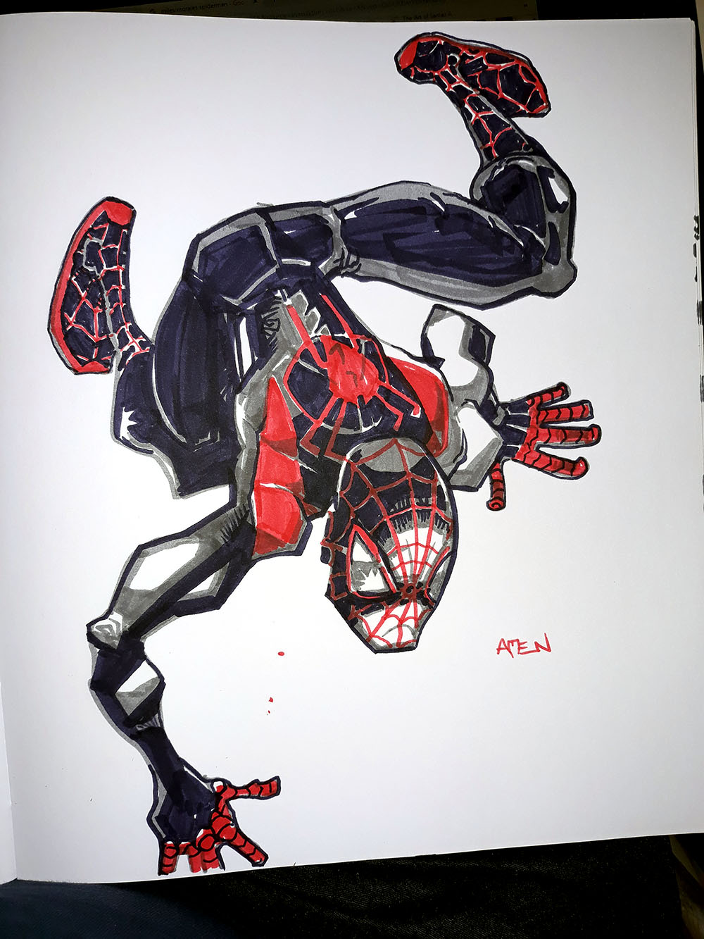 """Daily Sketch: Spider Morales"" by Samax"