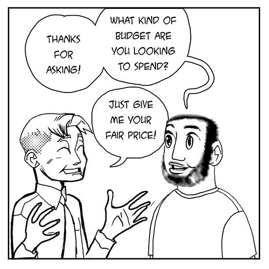 "FREELANCER LIFE: ""(Un)Fair Pricing"" © 2019 Samax Amen"