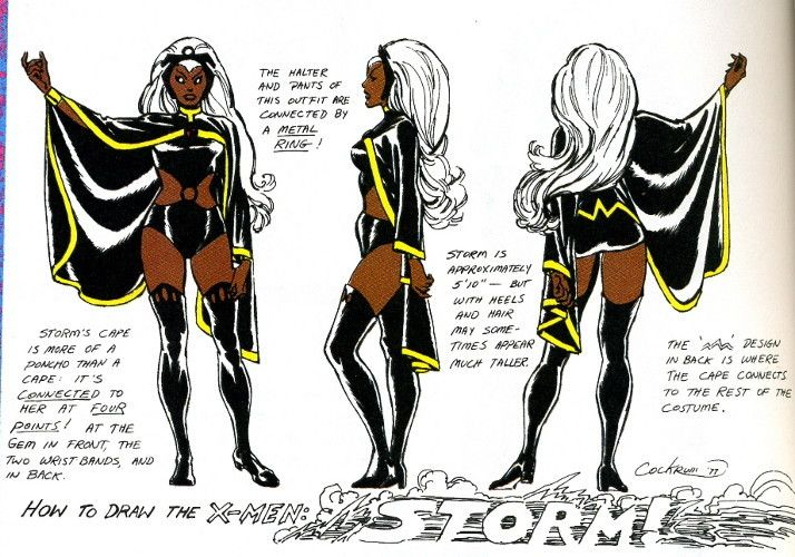 """How to Draw  STORM"" by Dave Cockrum"