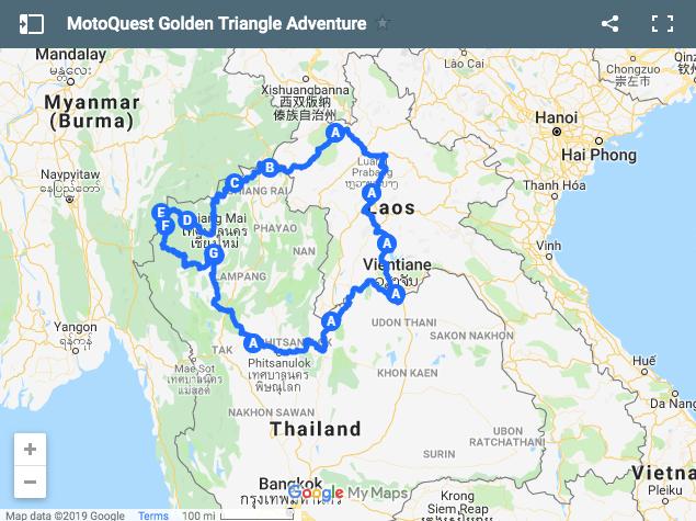MotoQuest Golden Triangle Thailand Adventure