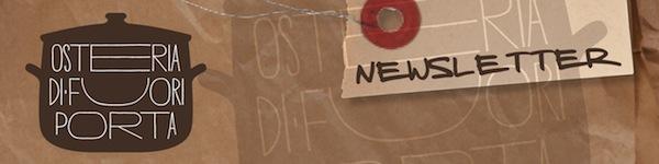 Newsletter Osteria