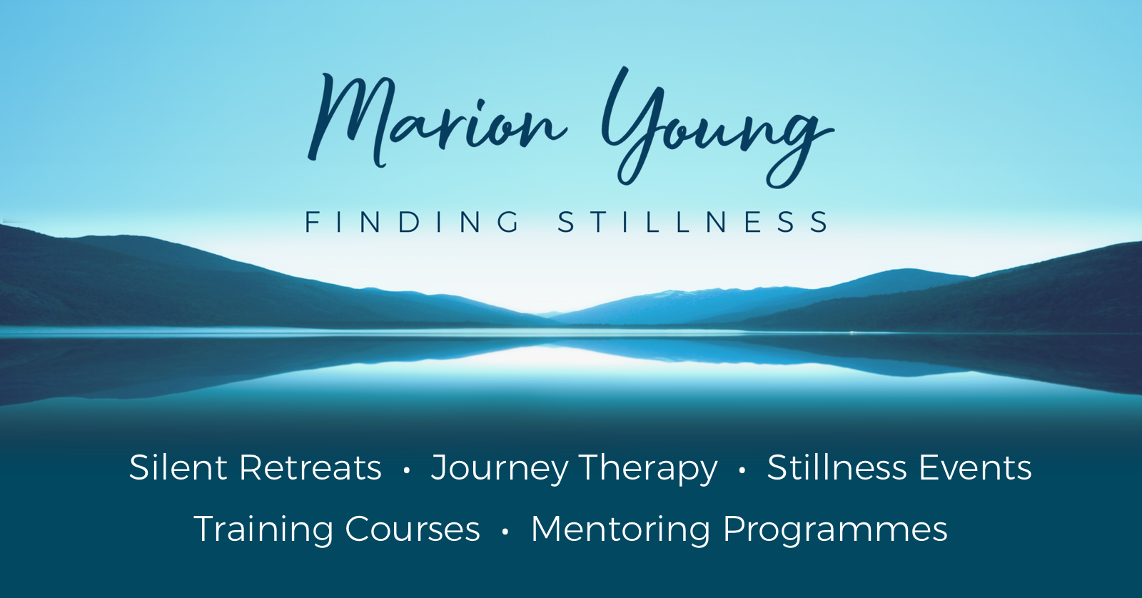 Marion Young - Finding Stillness Banner
