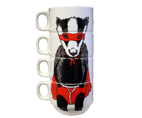 Super Badger Coffee Cups
