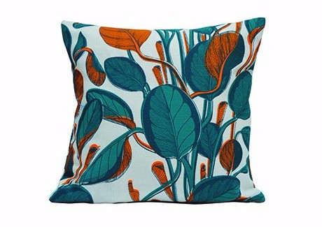 Calathea Cushion - Orange